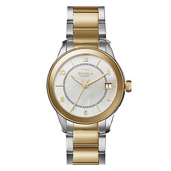 shinola gail women's 36mm watch, two tone gold plated stainless steel