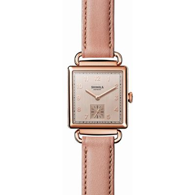shinola the cass women's watch 28mm, rose tone stainless steel with nude dial