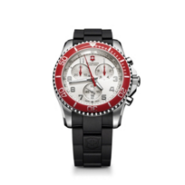 Swiss_Army_Maverick_GS_Chronograph_Strap_Watch,_Silver_Dial