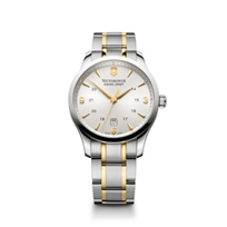 Swiss_Army_Alliance_Two-Tone_Bracelet_Watch,_Silver_Dial