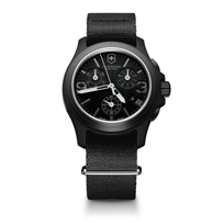 Swiss_Army_Original_Chronograph_Strap_Watch,_Black_Dial