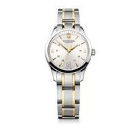 Swiss_Army_Alliance_Two-Tone_Small_Bracelet_Watch,_Silver_Dial