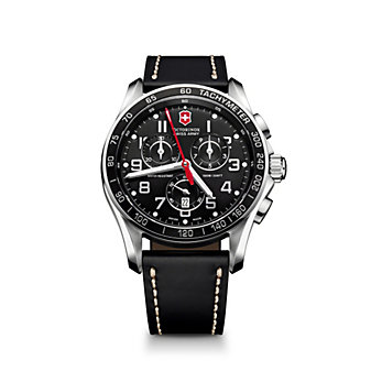 Swiss Army Chrono Classic XLS  Strap Watch, Black Dial