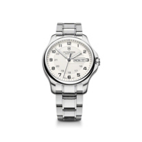Swiss_Army_Officer's_Day_Date_Bracelet_Watch,_Silver_Dial
