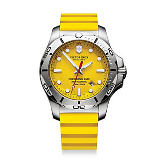 Swiss Army INOX Professional Diver Watch, Yellow Dial