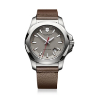 Swiss_Army_INOX_Leather_Strap_Watch,_Gray_Dial