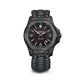 swiss army i.n.o.x carbon 43mm men's watch, black