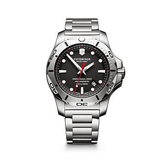 swiss army i.n.o.x. professional diver 45mm watch, black dial