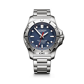 swiss army i.n.o.x. professional diver 45mm watch, blue dial