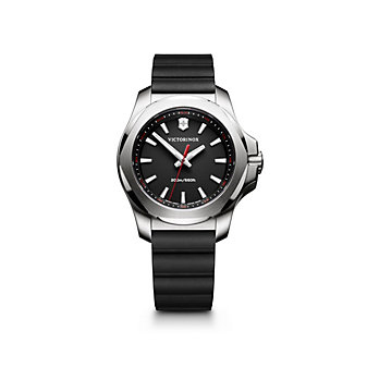 swiss army i.n.o.x. v women's 37mm watch, black strap & black dial