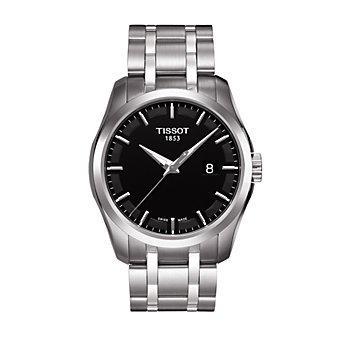 Tissot Couturier Men's Quartz Black Dial Watch