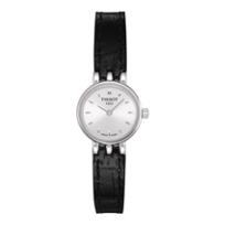 Tissot_Lovely_Women's_Black_Leather_Strap_Watch