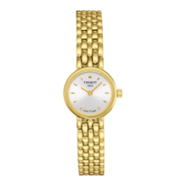 Tissot_Lovely_Women's_Yellow_Tone_Quartz_Silver_Dial_Watch