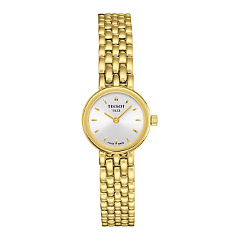 Tissot Lovely Women's Yellow Tone Quartz Silver Dial Watch