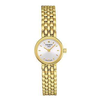Tissot Lovely Women's Yellow Tone Quartz Silver Dial Watch