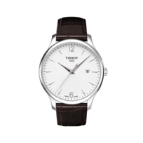 Tissot_Men's_Tradition_Brown_Leather_Strap_Watch