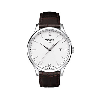 Tissot Men's Tradition Brown Leather Strap Watch