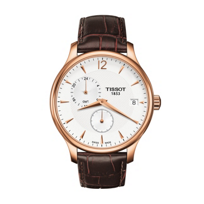 Tissot_Tradition_GMT_Men's_Quartz_Rose_Gold_PVD_Case_Silver_Dial_Watch