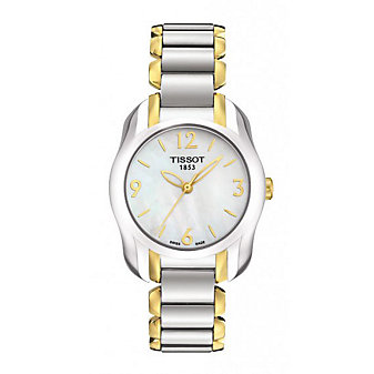 Tissot Stainless Steel and Yellow Tone T-Wave Watch