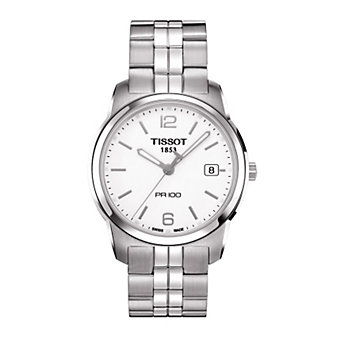 Tissot PR 100 Men's Quartz Steel White Dial Watch