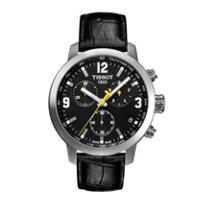 Tissot_Men's_PRC_200_Chronograph_Black_Leather_Strap_Sport_Watch