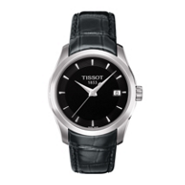 Tissot_Women's_Couturier_Black_Dial_&_Black_Leather_Strap_Watch