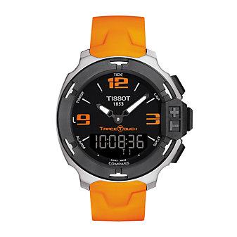 Tissot T-Race Touch Men's Quartz Chronograph Black & Orange Dial Watch