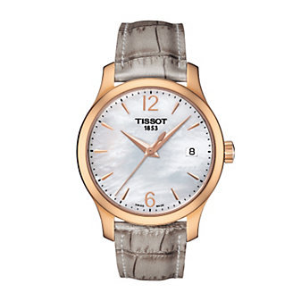 Tissot Women's Tradition Rose Case MOP Dial Watch