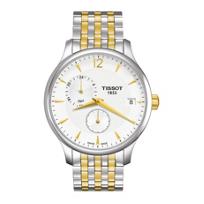 Tissot_Tradition_GMT_Men's_Quartz_Chrono_Two-Tone_Silver_Dial_Watch
