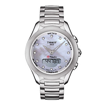 Tissot T-Touch Lady Solar Quartz Mother-of-Pearl & Diamond Dial Watch