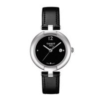 Tissot_Women's_Pinky_Black_Dial_Leather_Strap_Watch