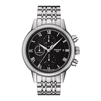Tissot Carson Men's Automatic Chrono Black Dial Watch