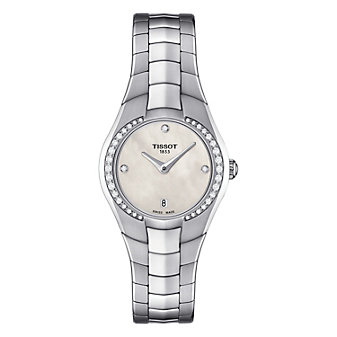Tissot T-Round Women's Quartz White MOP Dial Diamond Watch