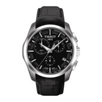 Tissot_Men's_Couturier_Chronograph_Black_Dial_Leather_Strap_Watch