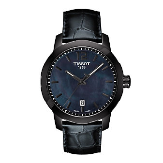 Tissot Anthracite Leather Quickster Gent and Lady