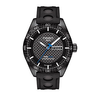 tissot prs 516 powermatic 80 42mm men's watch, black