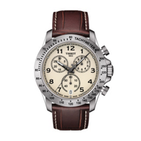 tissot_v8_quartz_chronograph_4.2mm_men's_watch,_brown_leather_
