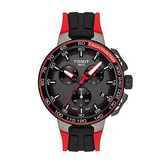 tissot t-race cycling vuelta men's watch, red & black