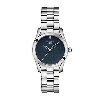 tissot t-wave 30mm women's watch, stainless steel
