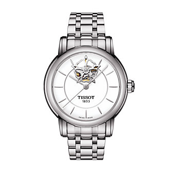 tissot lady heart powermatic 80 35mm women's watch, stainless steel