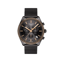 tissot_black_&_rose_tone_pr_100_chronograph_watch