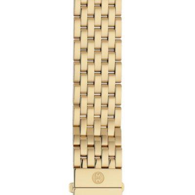 Michele 18mm Deco 7- Link Gold Bracelet