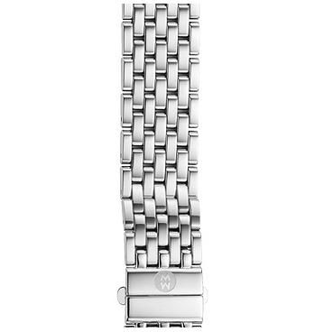 Michele 16mm Deco 16 7-Link Stainless Steel Bracelet