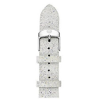Michele 18mm White Crystal Strap