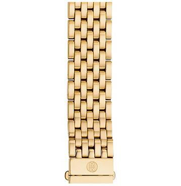 Michele 16mm Serein 16 Gold 7-Link Bracelet