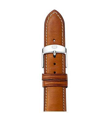 Michele 16mm Saddle Calfskin Strap