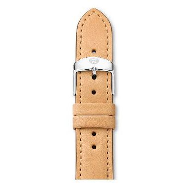 michele 16mm tan leather strap