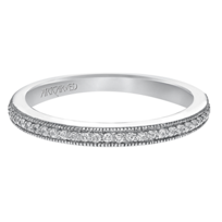 ArtCarved_14K_White_Gold_Lanice_Diamond_Band,_0.14cttw