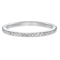 ArtCarved_14K_White_Gold_Diamond_Band,_0.25cttw