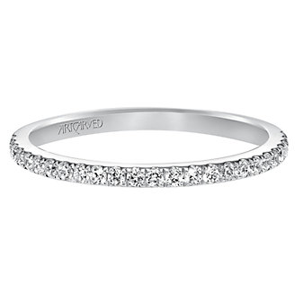ArtCarved 14K White Gold Diamond Band, 0.25cttw